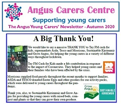 The Autumn 2020 Newsletter for Young Carers in Angus